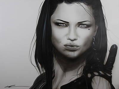 Adriana Lima - ' Profanity ' Original by Christian Chapman Art