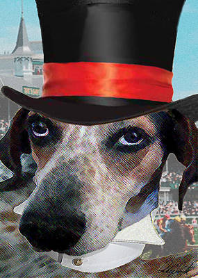 Coonhound Photograph - Professor Poses At The Derby by Michele Avanti