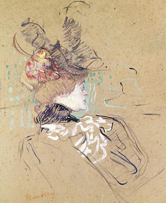 Belle Epoque Drawing - Profile Of A Woman by Henri de Toulouse-Lautrec