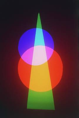 Colour Images Photograph - Projection Of Three Primary Colours by Dorling Kindersley/uig