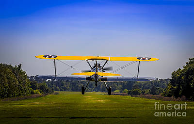 Stearman Photograph - Prop Wash by Marvin Spates