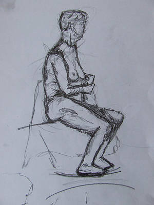 Proper-seated Print by Fanoulla  Sergiou