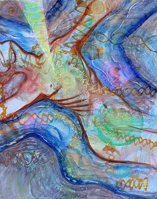 Mental Painting - Prophetic Ms 33 Soul Retrieval Soul Repair by Anne Cameron Cutri