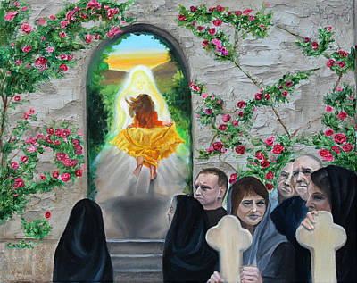Martha Mary Painting - Prophetic Ms 38 Before The Miracle by Anne Cameron Cutri