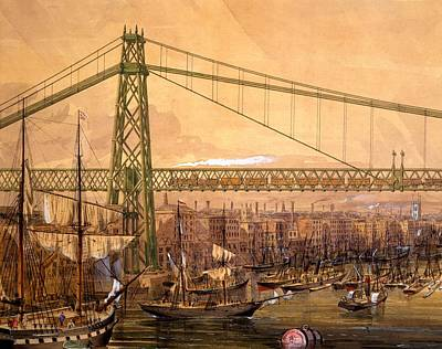 Proposed Railway Bridge Print by English School