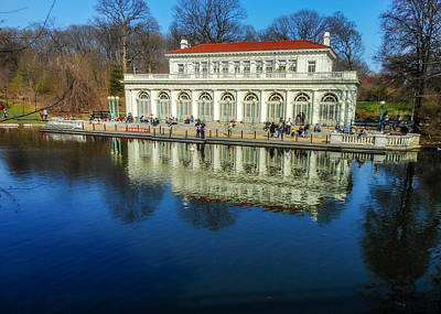Prospect Park Boathouse Print by Jon Woodhams