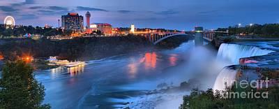 Prospect Point Panorama At Niagara Falls Print by Adam Jewell