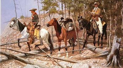Prospecting Digital Art - Prospecting For Cattle Range by Frederic Remington
