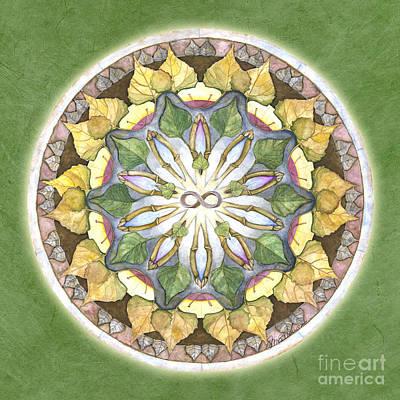 Prosperity Painting - Prosperity Mandala by Jo Thomas Blaine
