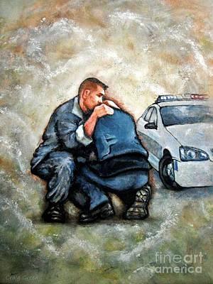 Enforcement Painting - Protect Serve Survive by Craig Green