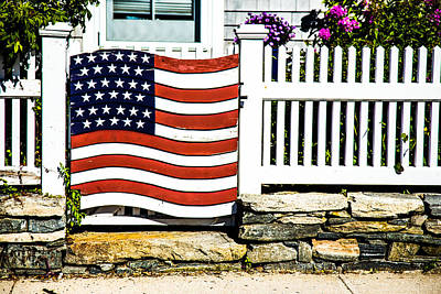 Protected By The Flag Print by Karol Livote