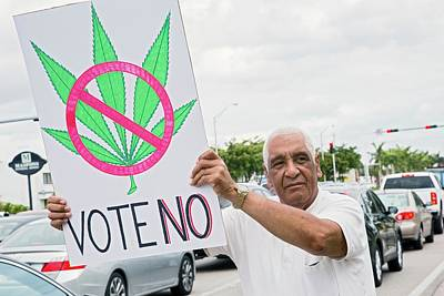 Tea Party Photograph - Protest Against Legalising Cannabis by Jim West
