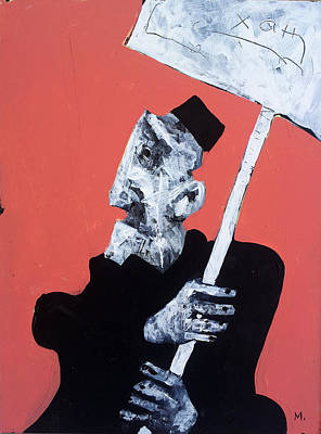 Outsider Painting - Protesto No. 13 by Mark M  Mellon