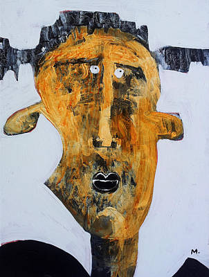 Outsider Art Painting - Protesto No. 2 by Mark M  Mellon