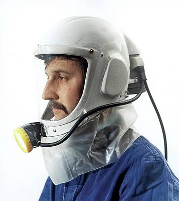 Prototype Airstream Helmet Print by Crown Copyright/health & Safety Laboratory Science Photo Library