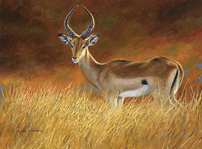 Dry Painting - Proud Male by Lucie Bilodeau