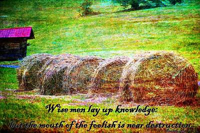 Christian Bale Digital Art - Proverbs 10 14 by Michelle Greene Wheeler