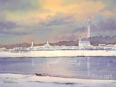 Lively Painting - Provincetown Evening Lights by Bill Holkham