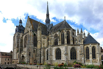 Provincial Church In France Print by Olivier Le Queinec
