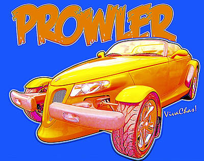 Prowler Photograph - Prowler Cartoon by Chas Sinklier