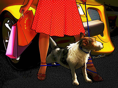 Prowler Photograph - Prowler Walkin Miss Mousy In Paris Texas by Chas Sinklier
