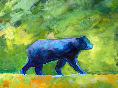 Bear Painting - Prowling by Nancy Merkle