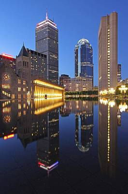 Prudential Center At Night Print by Juergen Roth