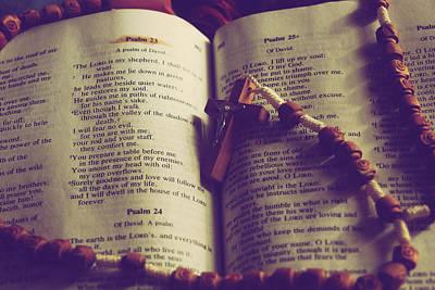 Psalm 23 Print by Christy Paxson