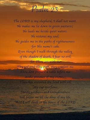 Psalm 23 Print by Mark Behrens