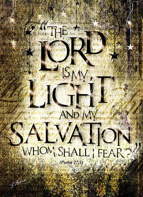 Psalm 27 Print by Gary Bodnar
