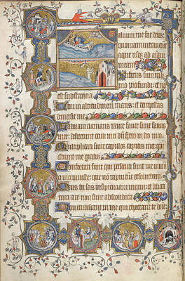 Jonah Photograph - Psalm 68; Jonah by British Library