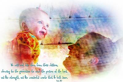 Psalm 78 4 Print by Michelle Greene Wheeler