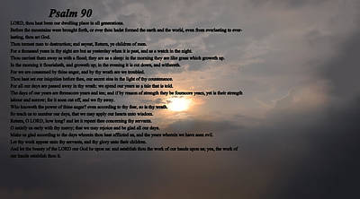 King James Bible Photograph - Psalm 90 by Bill Cannon