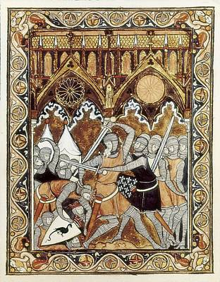 Psalter Of Saint Louis 13th C.. Abraham Print by Everett