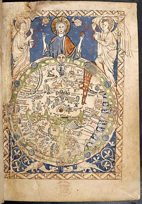 Israel Photograph - Psalter World Mappa Mundi by British Library