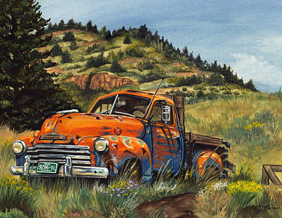 Chevy Painting - Pseudo-chevy  by Kelly Gilleran
