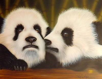 Endangered Wildlife Painting - Pssst... by Darren Robinson