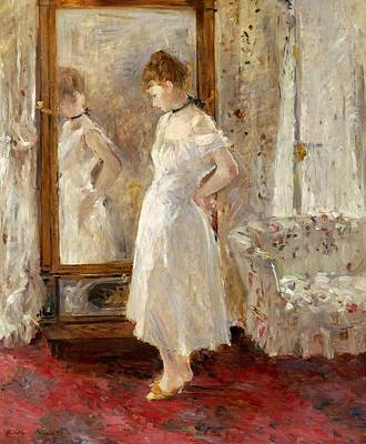 Psyche Print by Berthe Morisot
