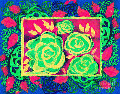 Multimedia Mixed Media - Psychedelic Roses - Spring by Beverly Claire Kaiya