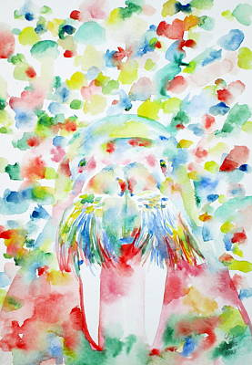 Walross Painting - Psychedelic Walrus - Watercolor Portrait by Fabrizio Cassetta