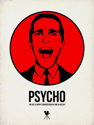 Classic Film Star Mixed Media - Psycho Poster 2 by Naxart Studio