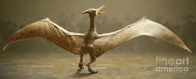 Black Bird.flying Art Painting - Pterosaur by Danny Smythe
