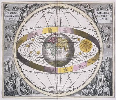 Ptolemaic Worldview, 1708 Print by Science Photo Library