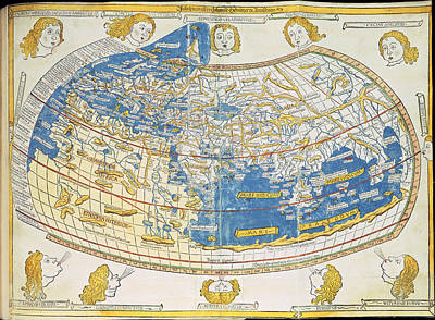Cartography Photograph - Ptolemic World Map by British Library