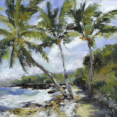 Haleiwa Painting - Puako Palms by Stacy Vosberg
