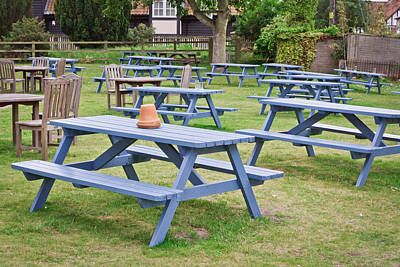 Empty Chairs Photograph - Pub Garden by Tom Gowanlock