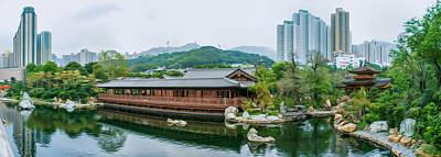 Far Pavilions Painting - Public Nan Lian Garden by Lanjee Chee