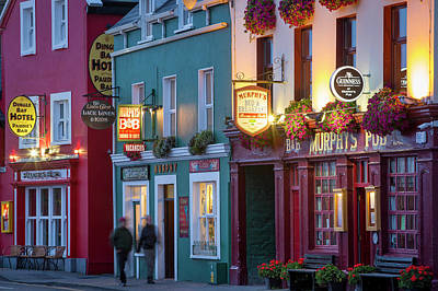 Pubs Along Strand Street, Dingle Print by Brian Jannsen
