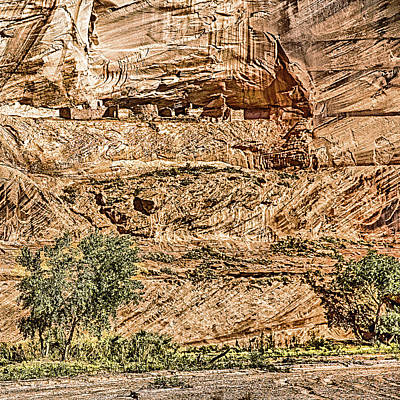 Indian Cherokee Digital Art - Pueblo 2 Canyon De Chelly Navajo Nation by Bob and Nadine Johnston