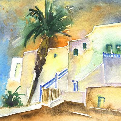 Lanzarote Painting - Puerto Carmen Sunset In Lanzarote 03 by Miki De Goodaboom